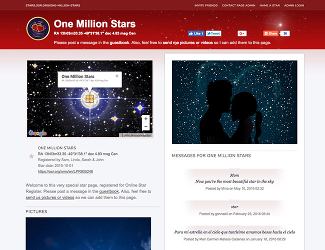 Customizable Star Page