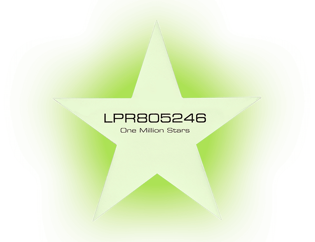 Glow-in-the-dark star sticker