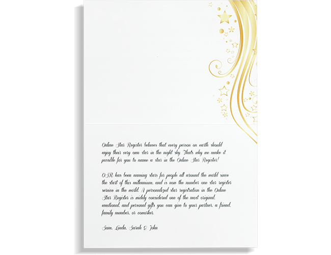 Card with personal message