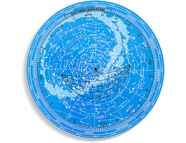 Detailed revolving star chart