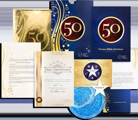 Kjøp en stjerne - Gave til 50-årsdag