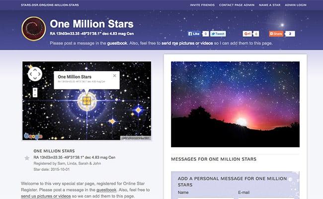 Página da Estrela da OSR