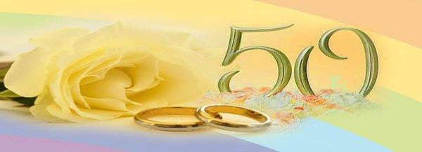50 anni di matrimonio: come festeggiare le nozze doro ...