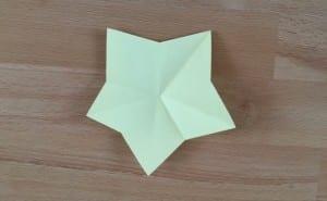 Sterren vouwen: Simpele ster