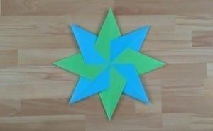 Sterren vouwen: Kleurige ster
