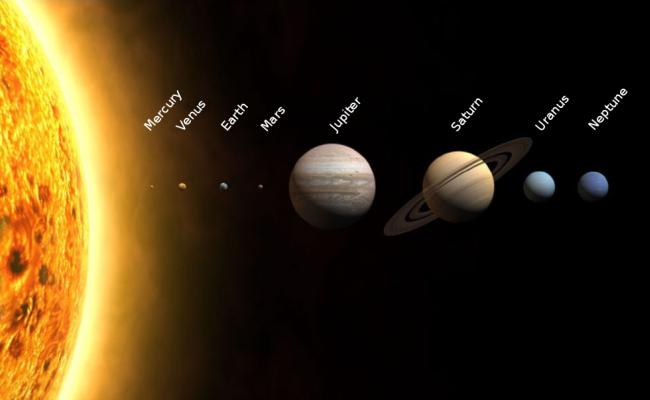 De planeten in ons zonnestelsel