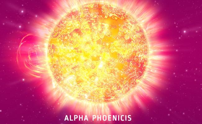 Alpha Phoenicis bekende sterren