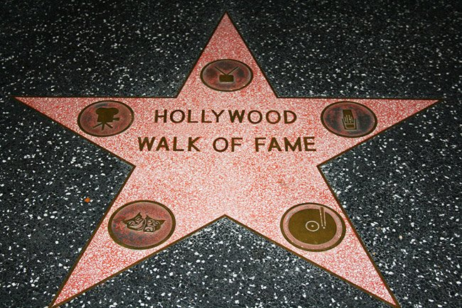 "Hollywoodzka gwiazda ""Walk of Fame"""