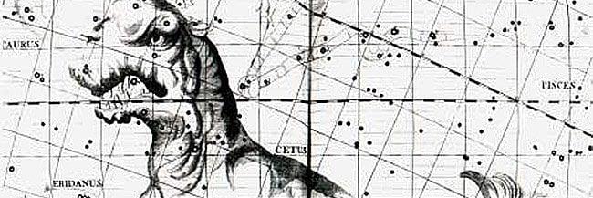 Cetus estrella constelacion