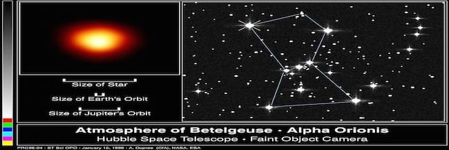 Betelgeuse The Red Supergiant Online Star Register