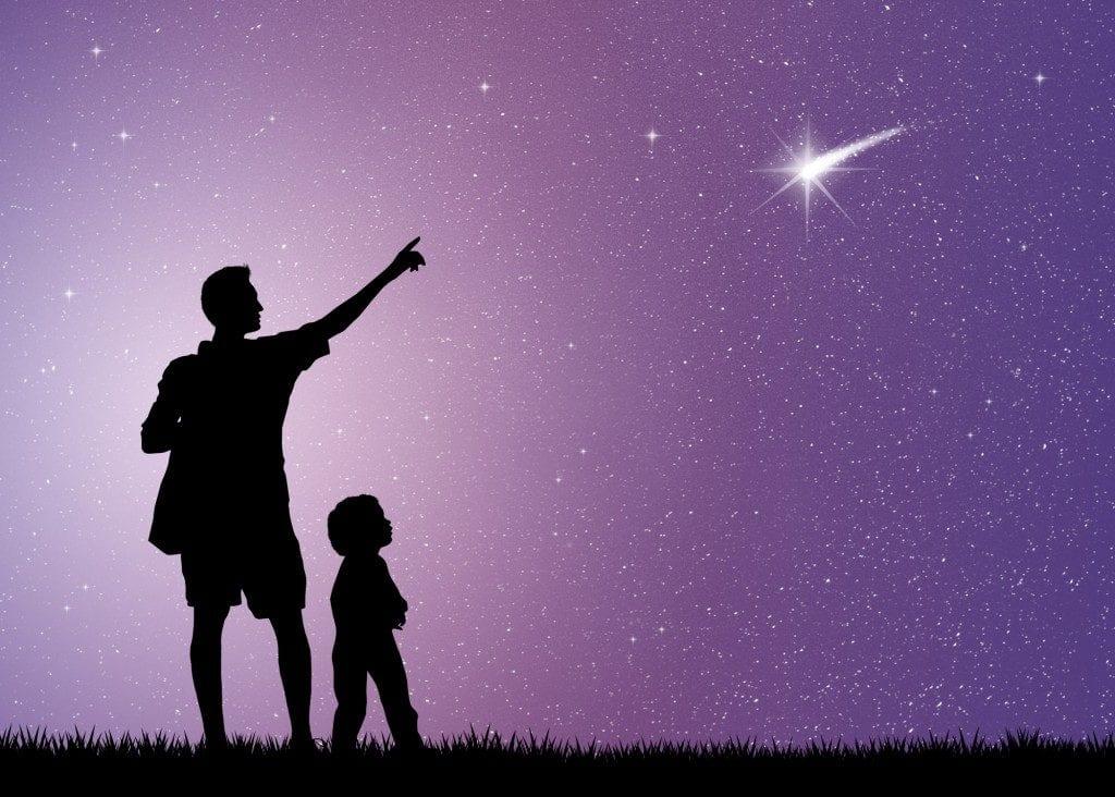 stelle cadenti con bambini