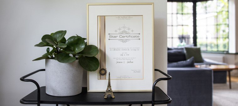 framing-star certificate-pricture frame