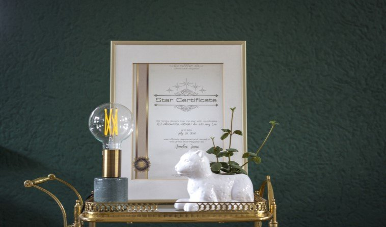 framing-picture frame-starcertificate