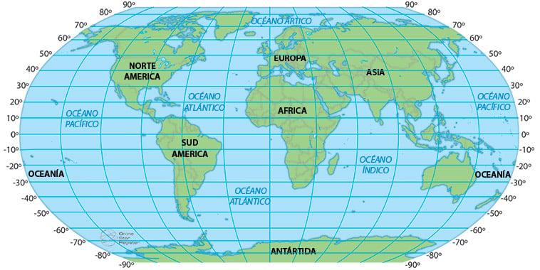 Latitudes del mundo