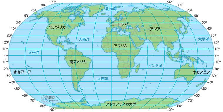 世界の緯度