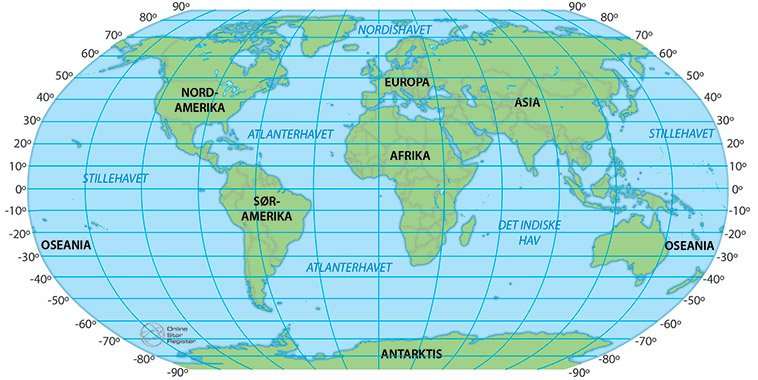 Breddegrader i verden