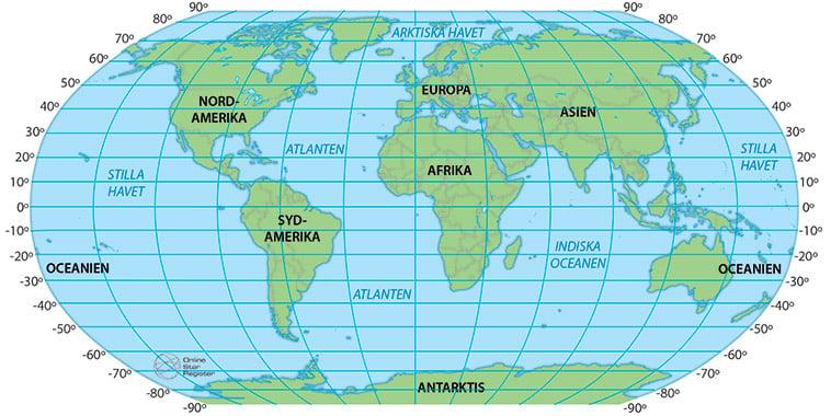 Latituder i världen