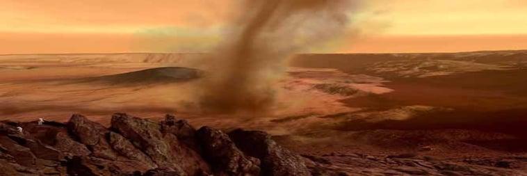 Mars Federwolke