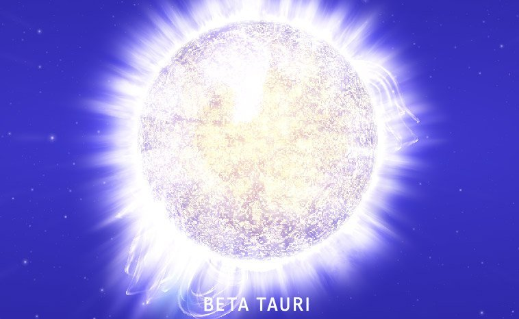 Beta Tauri - Stern im Weltall