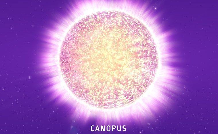 Canopus - Vollansicht im All