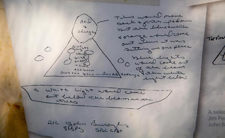 Rendlesham UFO Zeichnung