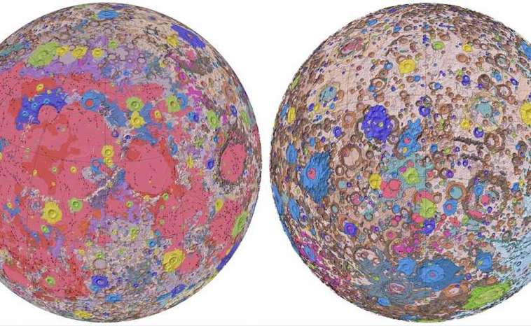 Digital Moon Map