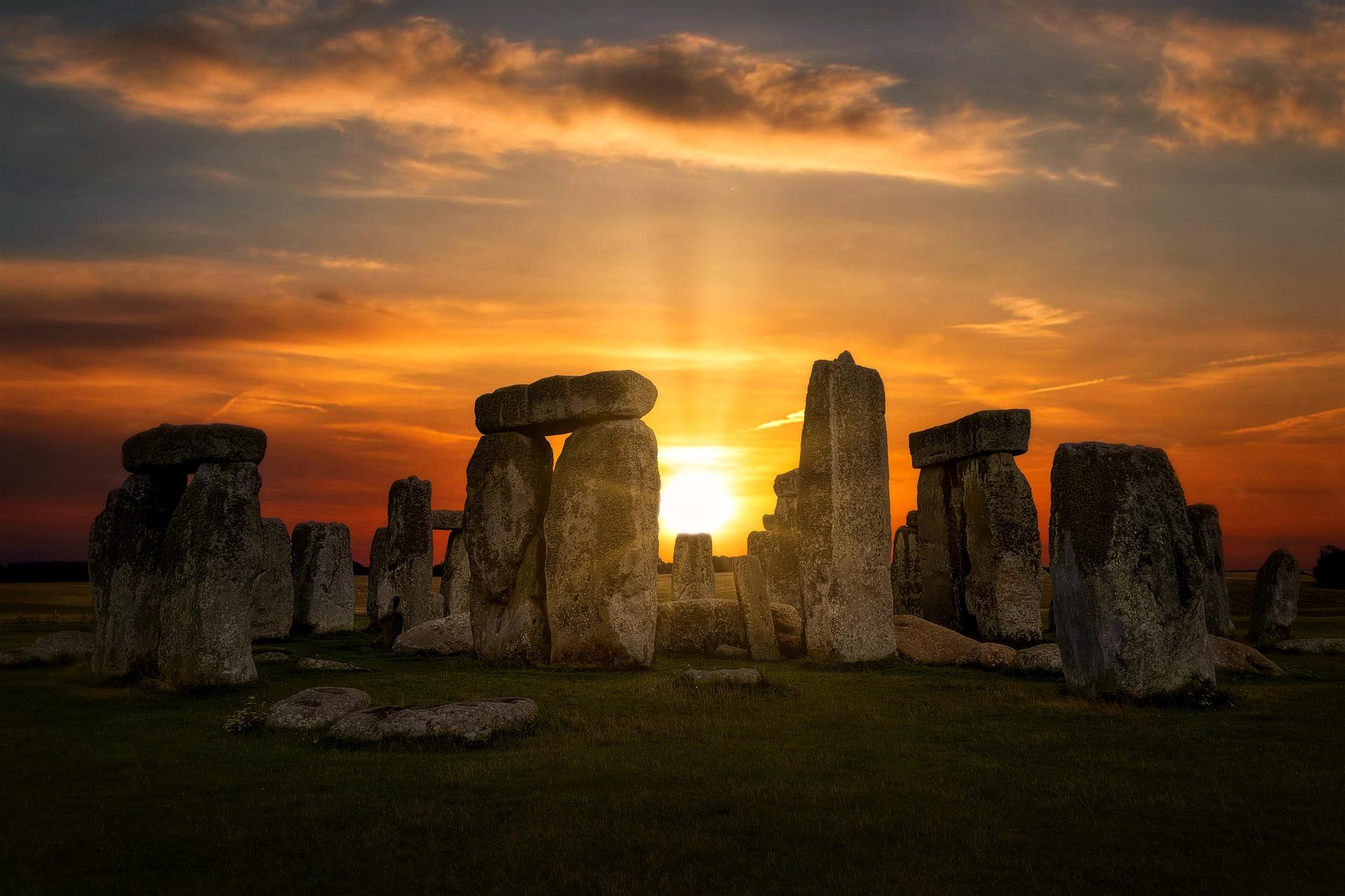 Stonehenge with the Sun