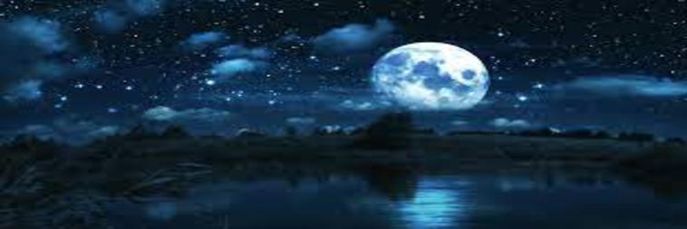 pleine lune dans un environnement sombre et nocturne