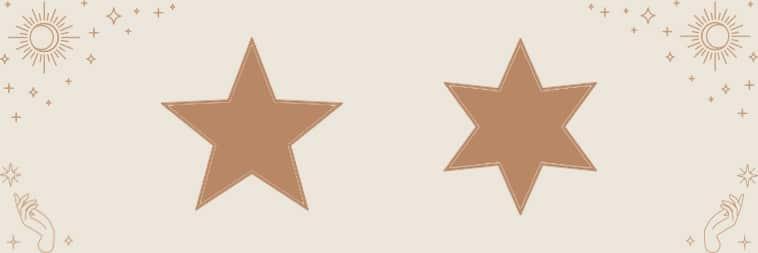 Pentagram en Hexagram