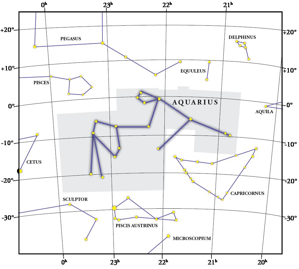 Aquarius Constellation Map