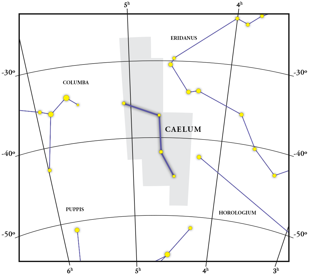 Caelum Constellation Map