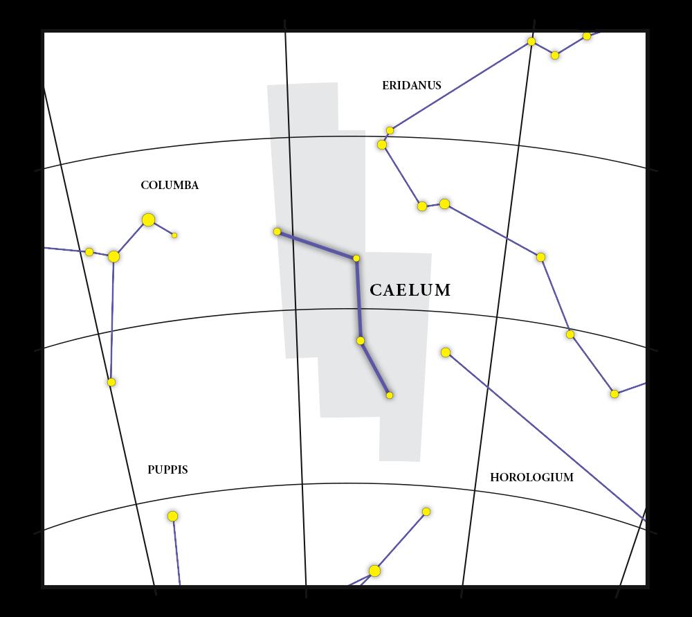 Caelum Constellation Map