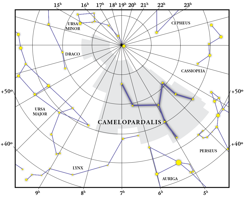 Camelopardalis Constellation Map