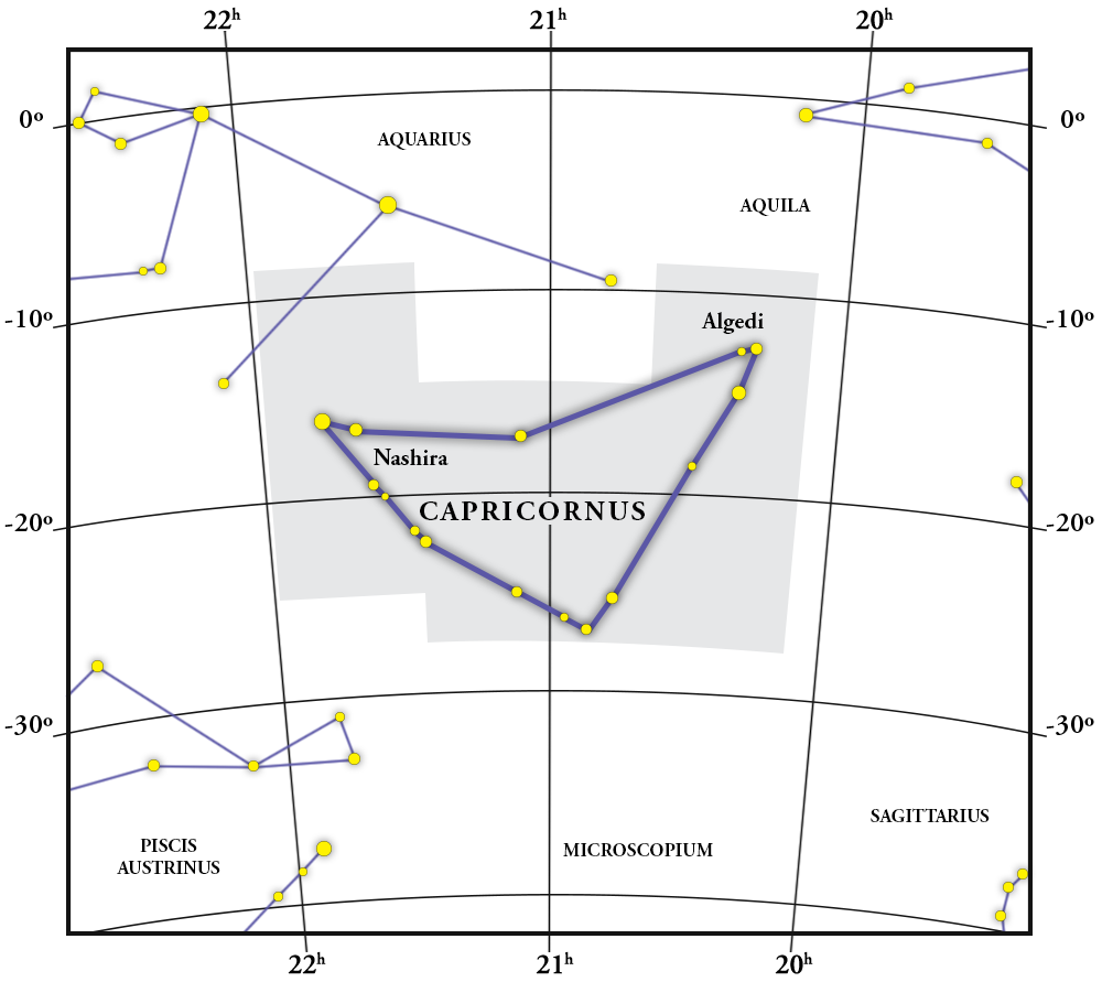 Capricornus Constellation Map