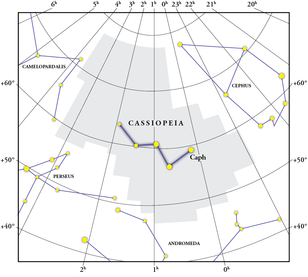 Cassiopeia Constellation Map