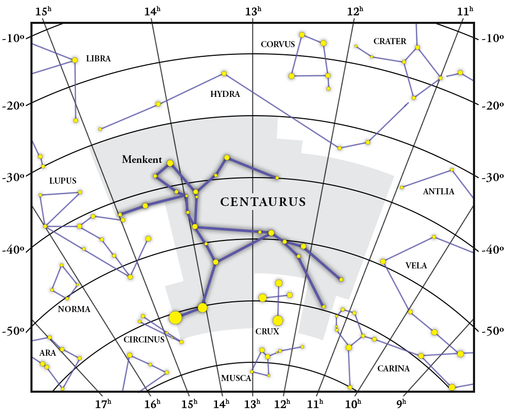 Centaurus Constellation Map