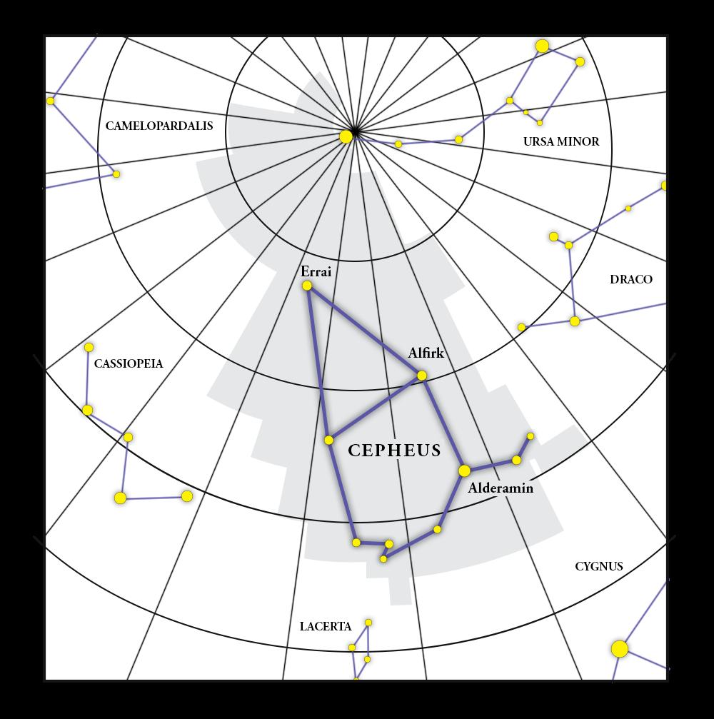 Cepheus Constellation Map
