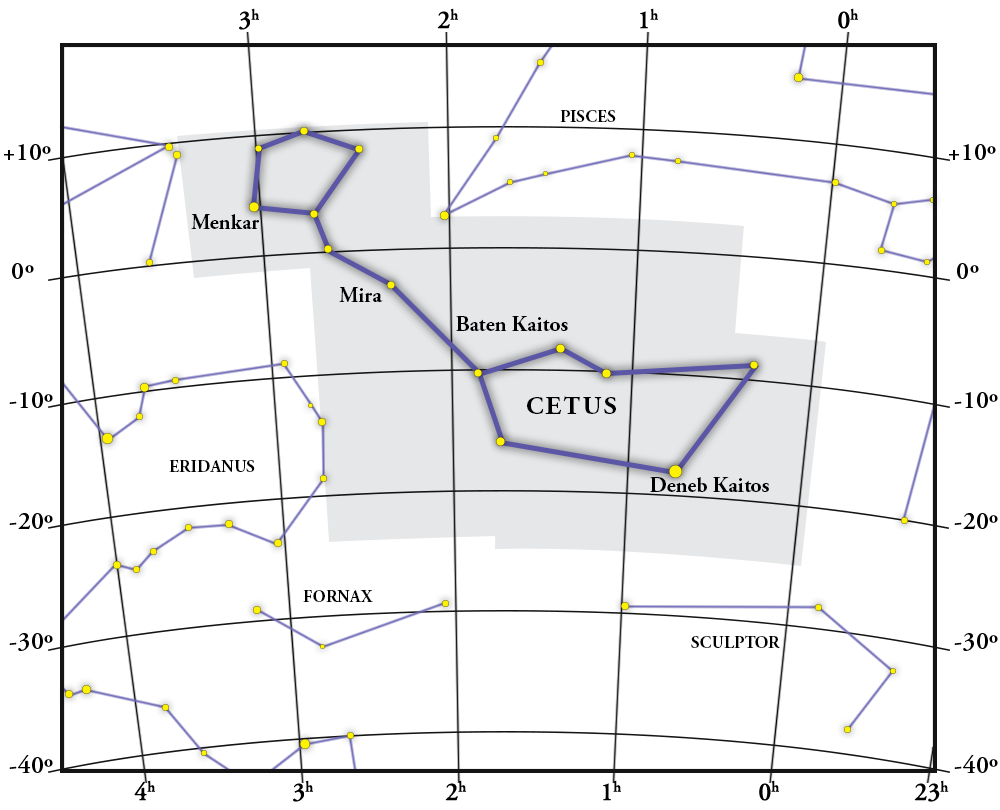 Cetus Constellation Map