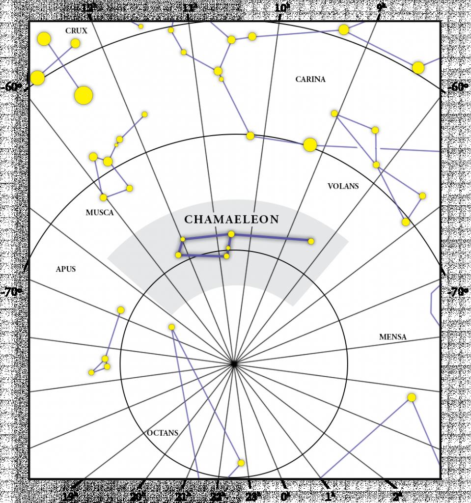 Chamaeleon Takımyıldızı Haritası