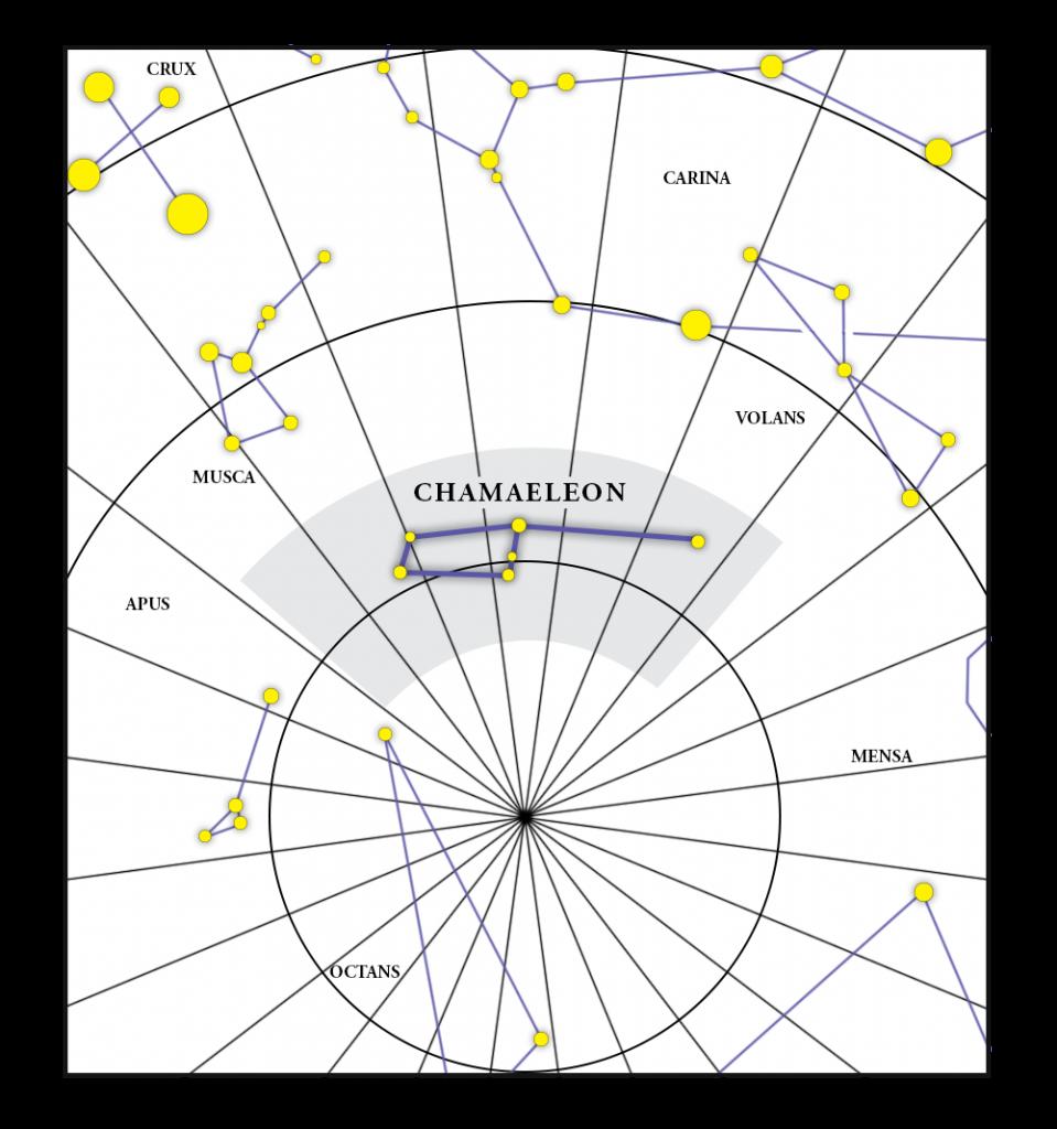 Chamaeleon Constellation Map