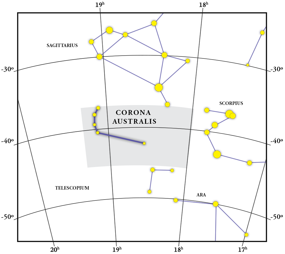 Corona Australis Constellation Map