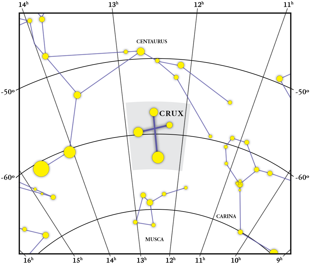 Crux Constellation Map