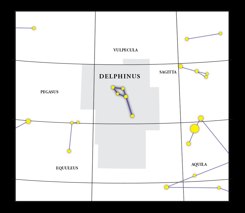 Delphinus Constellation Map