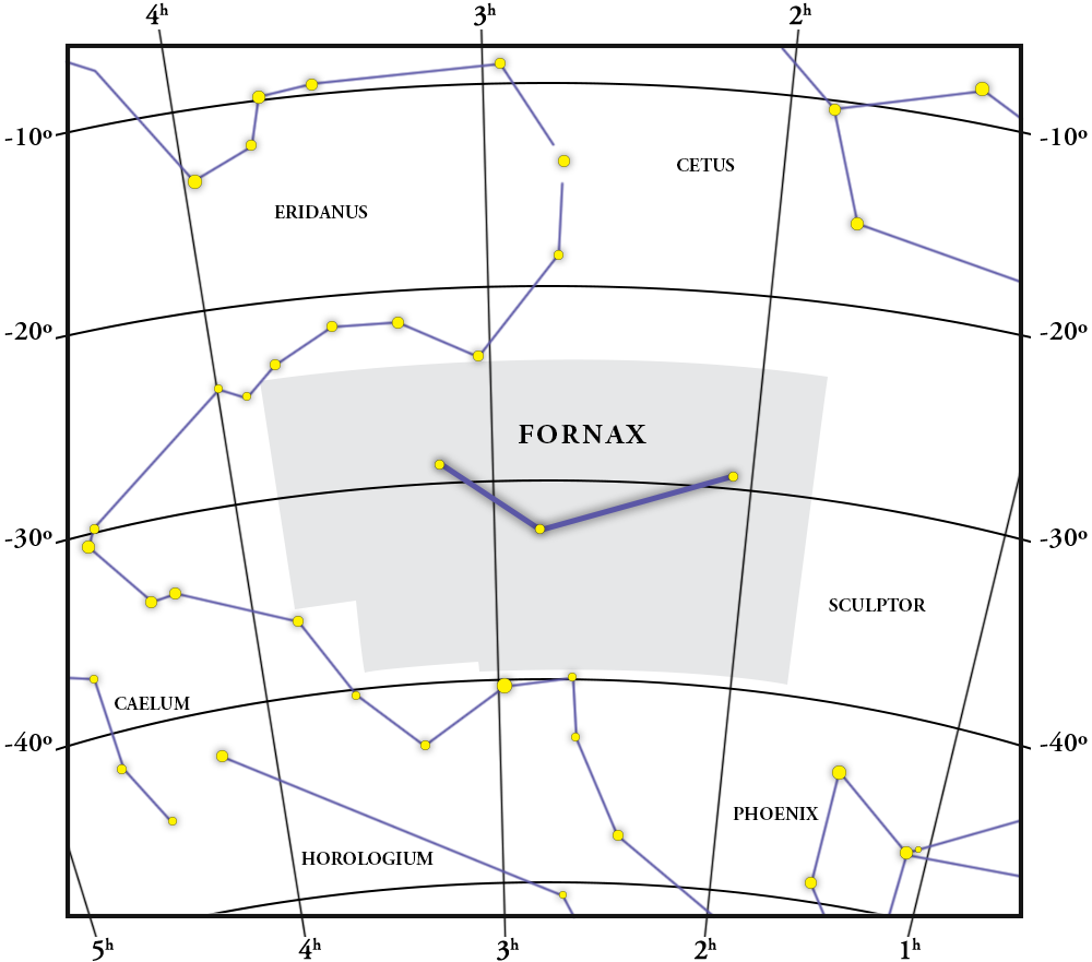 Fornax Constellation Map