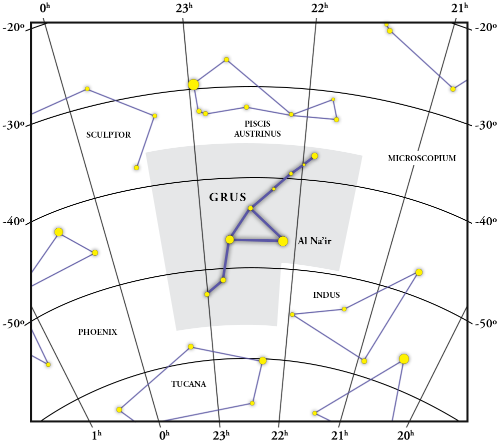 Grus Constellation Map