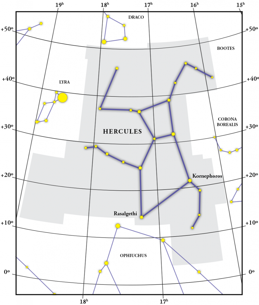 Hercules Constellation Map