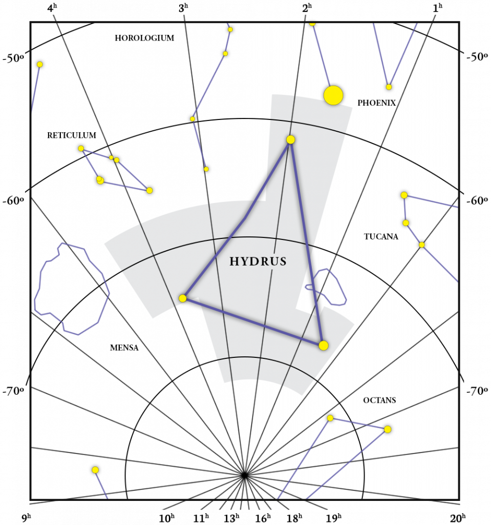 Hydrus Constellation Map