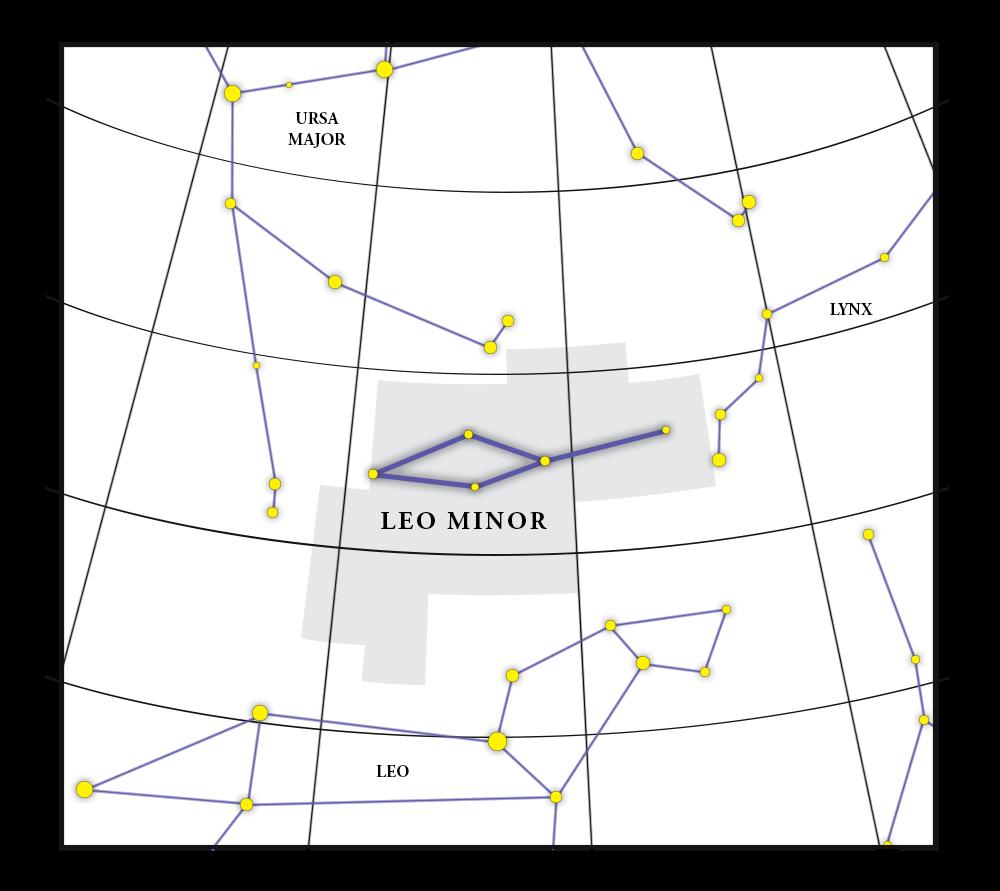 Leo Minor Constellation Map