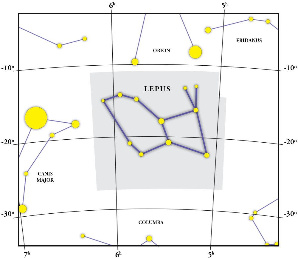 Lepus Constellation Map