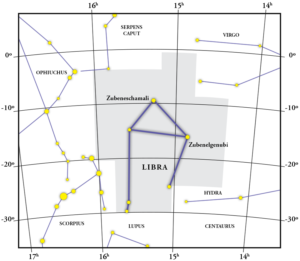 Libra Constellation Map